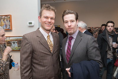 Ed Miller, Ethan McSweeney. Photo by Alfredo Flores. Opening Reception for Edward Bear Miller Exhibit. Foundry Gala. January 4, 2013.