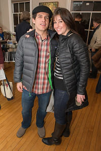 Steve Roby, Heather Roby. Photo by Alfredo Flores. Opening Reception for Edward Bear Miller Exhibit. Foundry Gala. January 4, 2013.