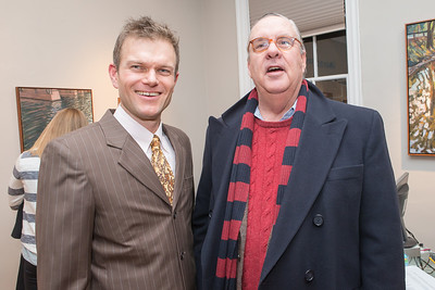 Ed Miller, Richard Longstreth. Photo by Alfredo Flores. Opening Reception for Edward Bear Miller Exhibit. Foundry Gala. January 4, 2013.