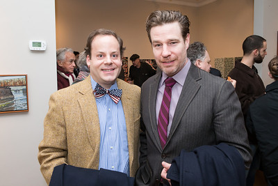 Ben Wentworth, Ethan McSweeny. Photo by Alfredo Flores. Opening Reception for Edward Bear Miller Exhibit. Foundry Gala. January 4, 2013.