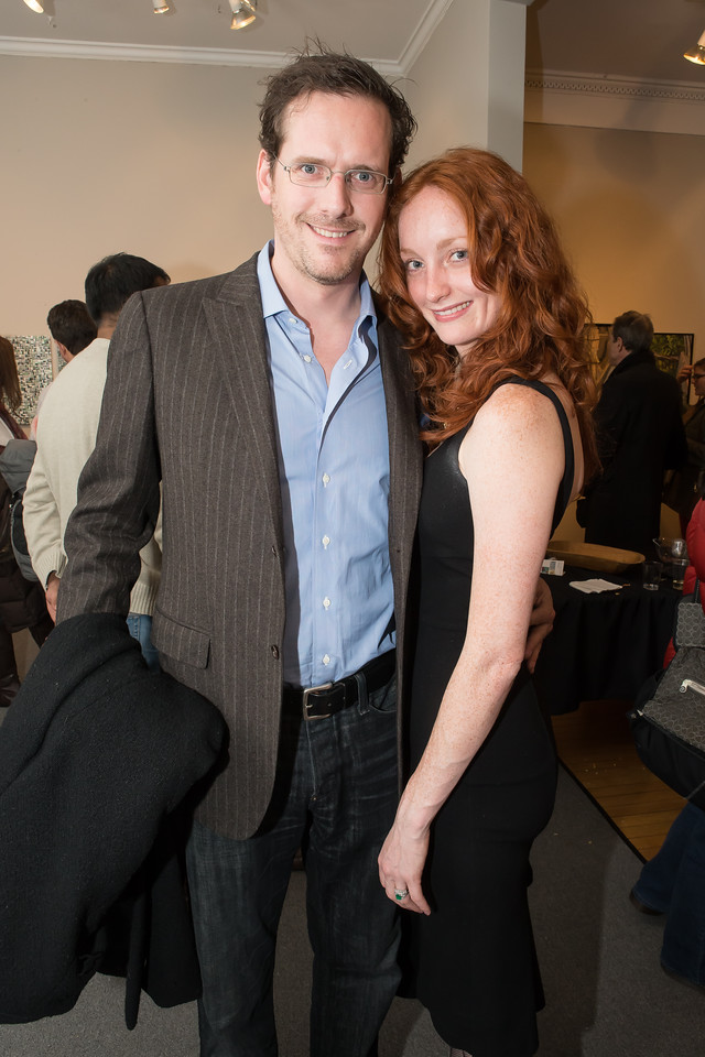 Christian Fromm, Melinda Fromm. Photo by Alfredo Flores. Opening Reception for Edward Bear Miller Exhibit. Foundry Gala. January 4, 2013.