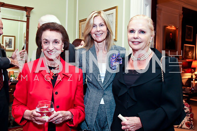 Lucky Roosevelt, Eileen Shields-West, Judy Esfandiary. Photo by Tony Powell. PEN/Faulkner Evening Honoring James Salter. Residence of C. Boyden Gray. December 6, 2012