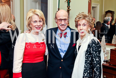 Susan Ginsburg, Finlay Lewis, Ina Ginsburg. Photo by Tony Powell. PEN/Faulkner Evening Honoring James Salter. Residence of C. Boyden Gray. December 6, 2012