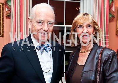 Bruce Ross-Larson, Wendy Benchley. Photo by Tony Powell. PEN/Faulkner Evening Honoring James Salter. Residence of C. Boyden Gray. December 6, 2012