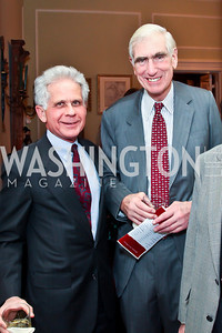Donald Friedman, C. Boyden Gray. Photo by Tony Powell. PEN/Faulkner Evening Honoring James Salter. Residence of C. Boyden Gray. December 6, 2012