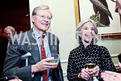 Ridge and Jill Hall. Photo by Tony Powell. PEN/Faulkner Evening Honoring James Salter. Residence of C. Boyden Gray. December 6, 2012