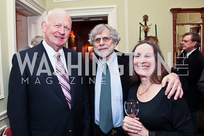 Michael Pillsbury, Alan Cheuse, Kris O'Shee. Photo by Tony Powell. PEN/Faulkner Evening Honoring James Salter. Residence of C. Boyden Gray. December 6, 2012