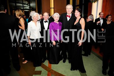 Barbara Rossotti,Charles Rossotti, Chandler Tagliabue,Paul Tagliabue, Debra KraftDecember 17,2012, Choral Arts Gala,Kyle Samperton