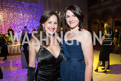 Marie Nelson, Emily Folson. Passion for Caring Gala. Photo by Alfredo Flores. National Building Museum. October 27, 2012