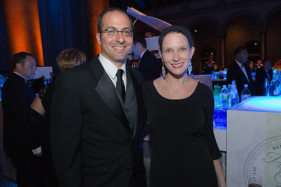 Andrew Sobanet, Amanda Sobanet. Passion for Caring Gala. Photo by Alfredo Flores. National Building Museum
