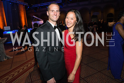 Kim Evans, Eric Evans. Passion for Caring Gala. Photo by Alfredo Flores. National Building Museum. October 27, 2012