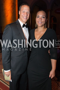 Derek Musgrove, Michelle Musgrove. Passion for Caring Gala. Photo by Alfredo Flores. National Building Museum. October 27, 2012