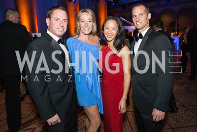 Chris Nave, Suzie Nave, Kim Evans, Eric Evans. Passion for Caring Gala. Photo by Alfredo Flores. National Building Museum. October 27, 2012