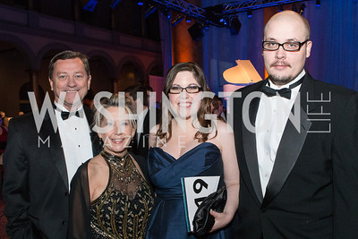 Kirby Lack, Rebecca Wilson, Meghan Tompkins, Jesse La Force. Passion for Caring Gala. Photo by Alfredo Flores. National Building Museum