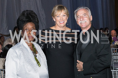 Bernice Harper, Marlene Davis, Perry Fine. Passion for Caring Gala. Photo by Alfredo Flores. National Building Museum. October 27, 2012
