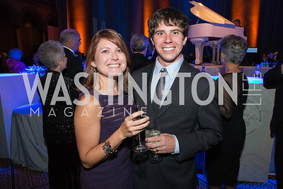 Emily Shreve, Aaron Shreve. Passion for Caring Gala. Photo by Alfredo Flores. National Building Museum. October 27, 2012