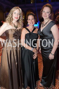 Meg Miller, Kristin Rounds, Nicole Redden. Passion for Caring Gala. Photo by Alfredo Flores. National Building Museum