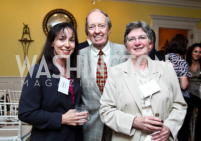 "Eleni Rossides, Joe Horning, Mary Bourdon. Photo by Tony Powell. Paul Tough ""How Children Succeed"" Book Party. Bradley residence. October 9, 2012"