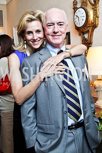 "Katherine and David Bradley. Photo by Tony Powell. Paul Tough ""How Children Succeed"" Book Party. Bradley residence. October 9, 2012"