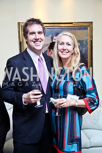 "Eric Crupi, Renee Esfandiary. Photo by Tony Powell. Paul Tough ""How Children Succeed"" Book Party. Bradley residence. October 9, 2012"