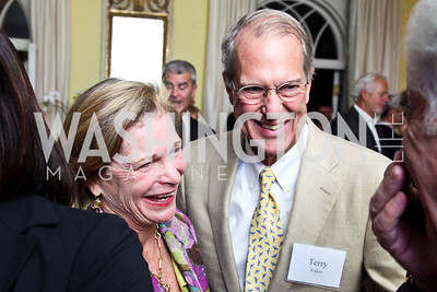 """Lindsay and Terry Eakin. Photo by Tony Powell. Paul Tough """"How Children Succeed"""" Book Party. Bradley residence. October 9, 2012"""