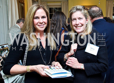 """Laurie Kusch, Missy DeCamp. Photo by Tony Powell. Paul Tough """"How Children Succeed"""" Book Party. Bradley residence. October 9, 2012"""