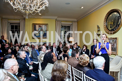 """Katherine Bradley. Photo by Tony Powell. Paul Tough """"How Children Succeed"""" Book Party. Bradley residence. October 9, 2012"""