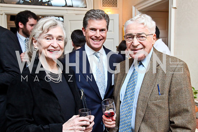 "Irene Wurtzel, Jeff Weiss, Alan Wurtzel. Photo by Tony Powell. Paul Tough ""How Children Succeed"" Book Party. Bradley residence. October 9, 2012"