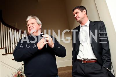 Joe Lockhart, Brendan Tuohey. Photo by Tony Powell. PeacePlayers International Reception. Lockhart Residence. November 27, 2012