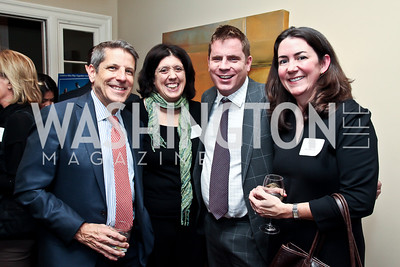 Steve Elmendorf, Ginny Terzano, Alex Slater, Mary Kate Cary. Photo by Tony Powell. PeacePlayers International Reception. Lockhart Residence. November 27, 2012