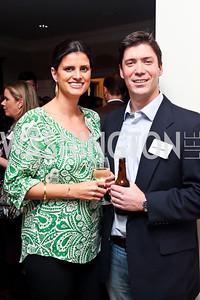 Jasmine Zamani, Gavin Glakas. Photo by Tony Powell. PeacePlayers International Reception. Lockhart Residence. November 27, 2012