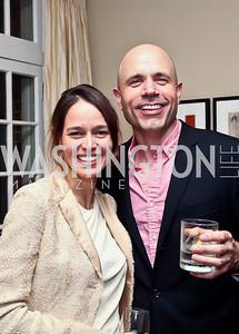 Nicole Mlade, Erik Rydholm. Photo by Tony Powell. PeacePlayers International Reception. Lockhart Residence. November 27, 2012