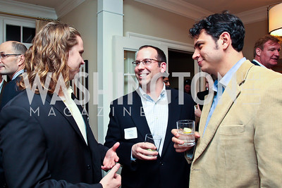 Gunnar Hagstrom, Tim Guinan, Taylor Brown. Photo by Tony Powell. PeacePlayers International Reception. Lockhart Residence. November 27, 2012