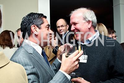 Peter Mirijanian, Mike McCurry. Photo by Tony Powell. PeacePlayers International Reception. Lockhart Residence. November 27, 2012