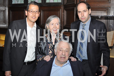 David Otsuka, Maureen Howard, Mark Probst, Andy Bienen. The Pen/Faulkner Awards at the Folger Shakespeare Library.  Photo by Ben Droz.