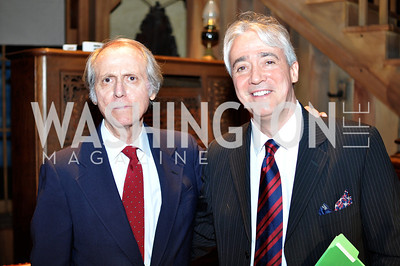 Don DeLillo, Scott Simon.  The Pen/Faulkner Awards at the Folger Shakespeare Library.  Photo by Ben Droz.