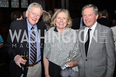 Buck O'Leary, Joan Bray, Jack Bray.  The Pen/Faulkner Awards at the Folger Shakespeare Library.  Photo by Ben Droz.