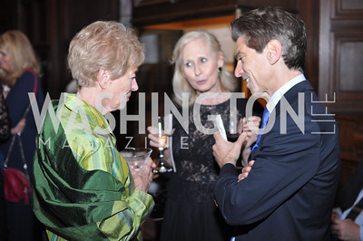 Ann Geracimos, Willie Lewis, Robert Haft.  The Pen/Faulkner Awards at the Folger Shakespeare Library.  Photo by Ben Droz.