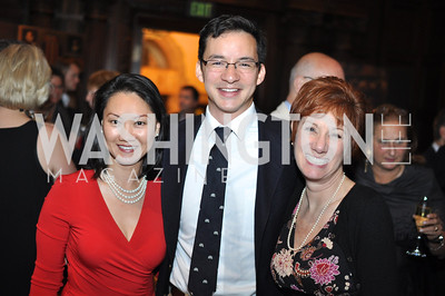 Helen Lee, Daniel Wolfe, Jan Zastrow.  The Pen/Faulkner Awards at the Folger Shakespeare Library.  Photo by Ben Droz.