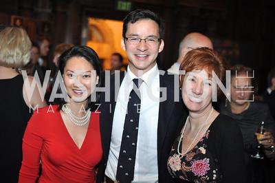 Helen Lee, Daniel Wolfe, Jan Zastrow.  The Pen/Faulkner Awards at the Folger Shakespeare Library.  Photo by Ben Droz.