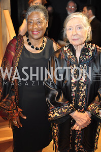 Marita Golden, Maureen Howard. The Pen/Faulkner Awards at the Folger Shakespeare Library.  Photo by Ben Droz.