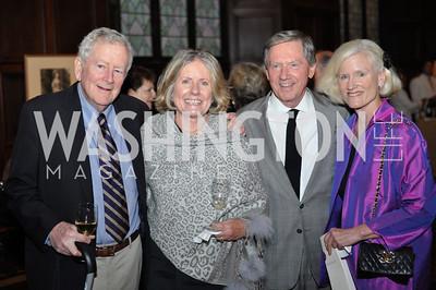 Buck O'Leary, Joan Bray, Jack Bray,  Caroline Croft.  The Pen/Faulkner Awards at the Folger Shakespeare Library.  Photo by Ben Droz.