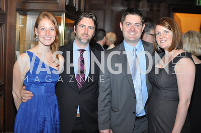 Claire Berke, Michael Sigrist, Kennet Agnew, Melanie Agnew.  The Pen/Faulkner Awards at the Folger Shakespeare Library.  Photo by Ben Droz.