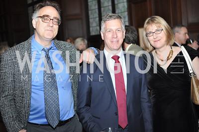 Arthur Allen, Peter Lewis, Margaret Talbot.  The Pen/Faulkner Awards at the Folger Shakespeare Library.  Photo by Ben Droz.