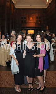 Amy Stolls, Eleanor Steele, Jennifer Brickman. The Pen/Faulkner Awards at the Folger Shakespeare Library.  Photo by Ben Droz.