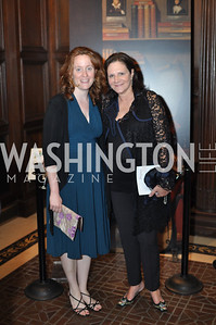 Emma Snyder, Andrea Waiswasser.  The Pen/Faulkner Awards at the Folger Shakespeare Library.  Photo by Ben Droz.