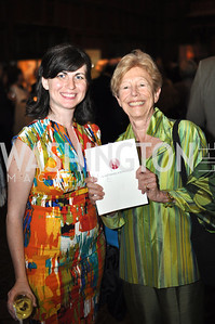 Carlyn Madden, Ann Geracimos. The Pen/Faulkner Awards at the Folger Shakespeare Library.  Photo by Ben Droz.