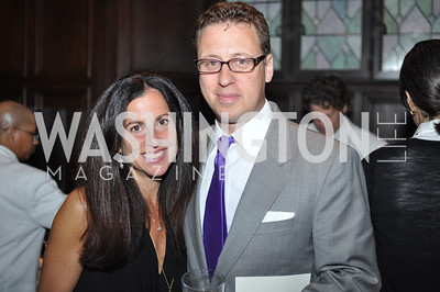 Molly Elkin, Ivan Wasserman.  The Pen/Faulkner Awards at the Folger Shakespeare Library.  Photo by Ben Droz.