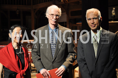 Julie Otsuka, Steven Millhauser, Anita Desai. The Pen/Faulkner Awards at the Folger Shakespeare Library.  Photo by Ben Droz.