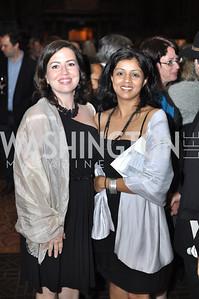 Gilda Karasik, Farzana Walcott. The Pen/Faulkner Awards at the Folger Shakespeare Library.  Photo by Ben Droz.
